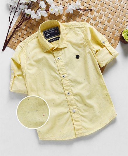 Jash Kids Full Sleeves Plain Shirt - Yellow