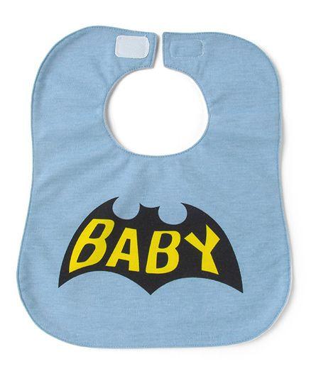 Little Hip Boutique Baby Print Bib - Blue