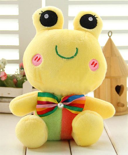 Skylofts Plush Frog Soft Toy Yellow - Height 24 cm