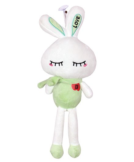 Skylofts Suction Hook Up Bunny Soft Toy Clay Green - Height 3.93 inches