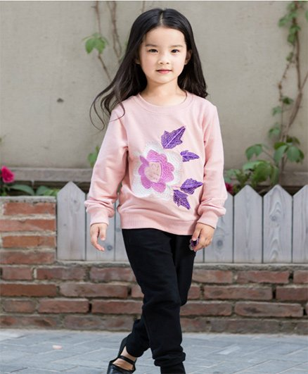 Pre Order - Awabox Floral Print Sweatshirt & Pant Set - Pink