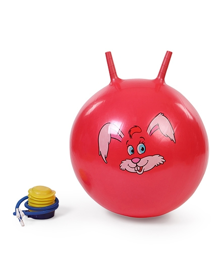Awals Hopping Ball With Pump - Red