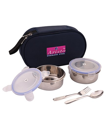 Aristo Lunch Box With Insulated Bag - Black