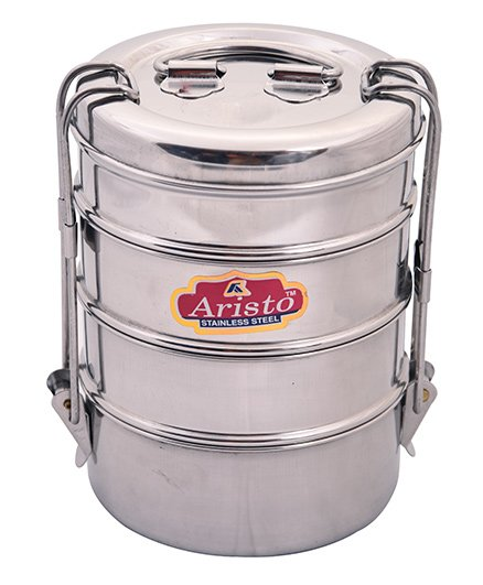 Aristo Stainless Steel Tiffin Box Silver - 430 ml