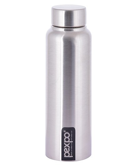 Pexpo Chromo Sleek Water Bottle Silver - 500 ml