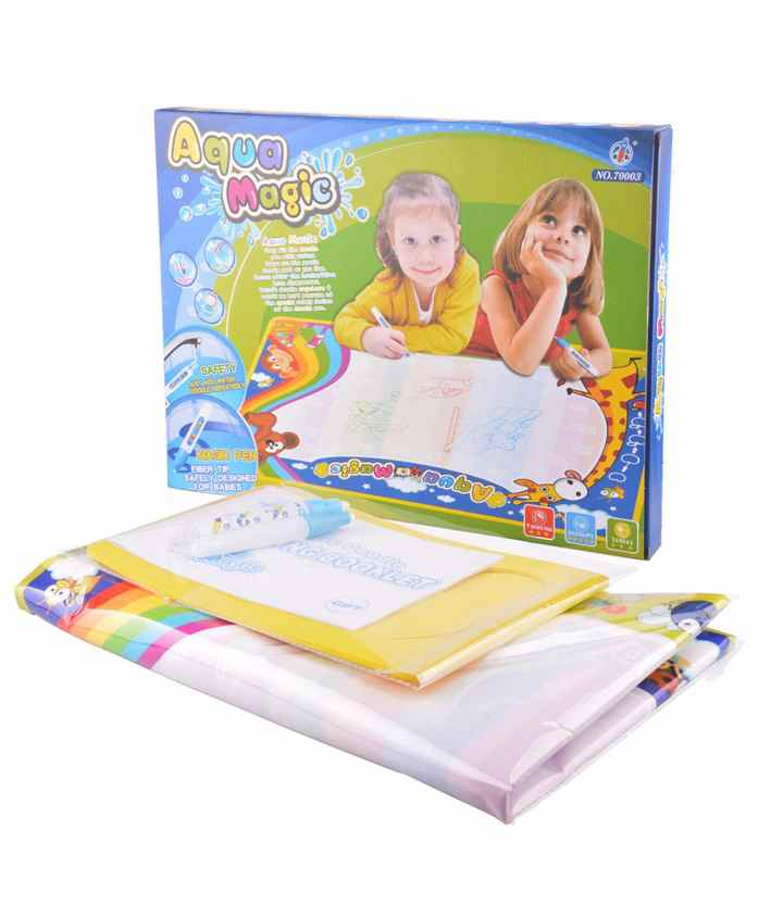 Planet Of Toys Aqua Magic Drawing Mat With Templates And Doodle Colour