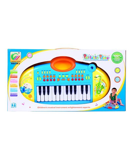 Planet of Toys Portable Piano With Microphone - Blue
