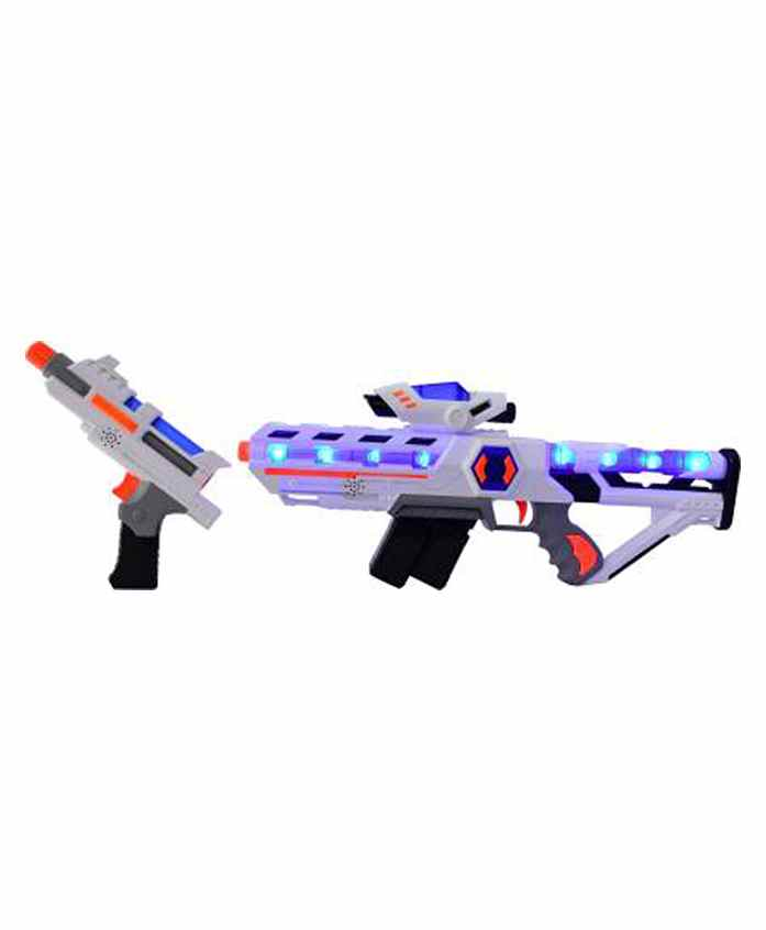 Planet Of Toys 2 In 1 Space Extension Gun With Lights & Sound White - Length 77 cm