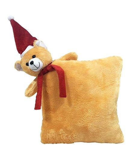 Ultra Soft Toy Santa Teddy Pillow - Cream