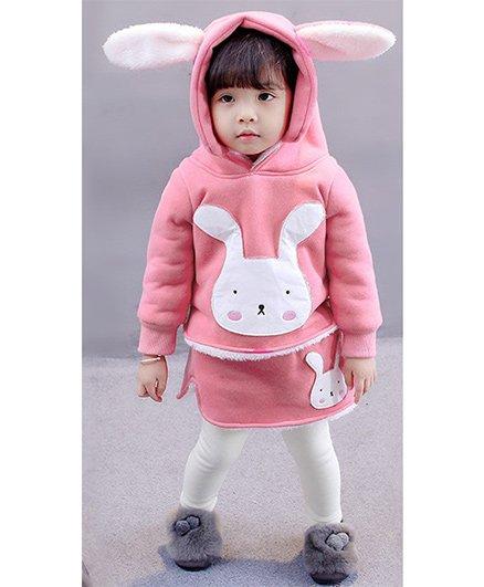 Pre Order - Awabox Bunny Hoodie & Pants - Baby Pink