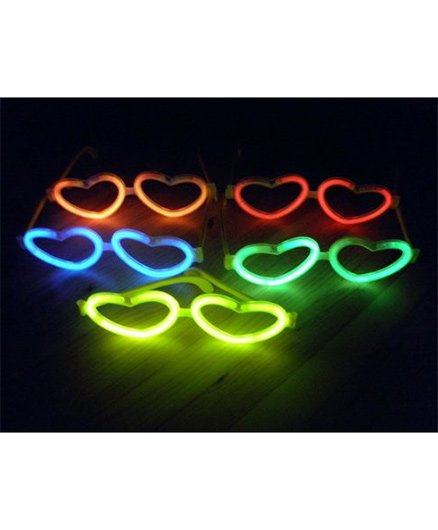 Funcart Glow Heart Shaped Glasses (Color May Vary)