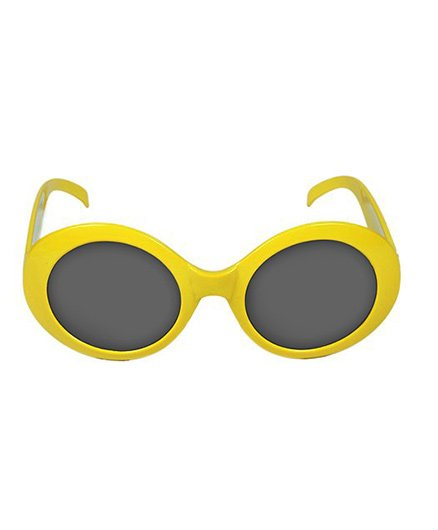 Funcart Retro Party Glasses - Yellow
