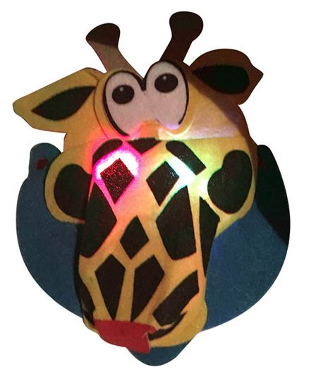 Funcart Visor Hat With Led Light Giraffe Shape - Multicolor