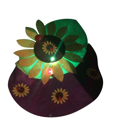 Funcart Visor Hat With Led Light Flower Shape - Multicolor