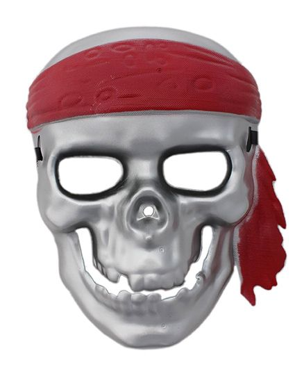 Funcart Scary Pirate Skull Halloween Party Full Face Mask - Silver