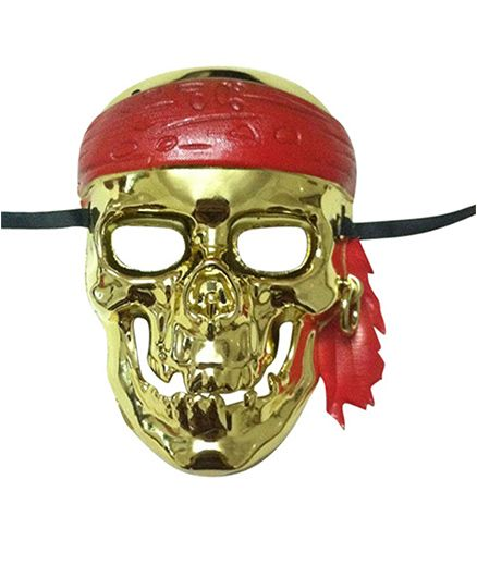 Funcart Scary Pirate Skull Halloween Party Full Face Mask - Gold