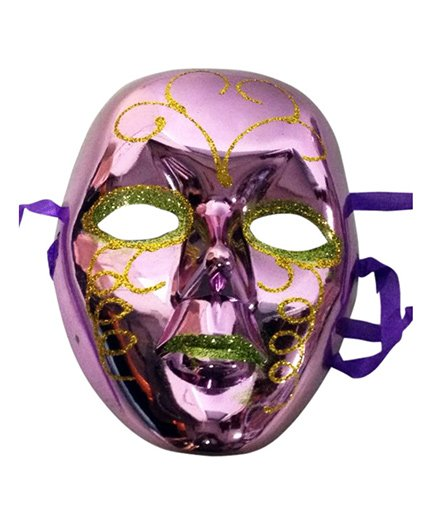 Funcart Metallic Glitter Face Mask - Purple