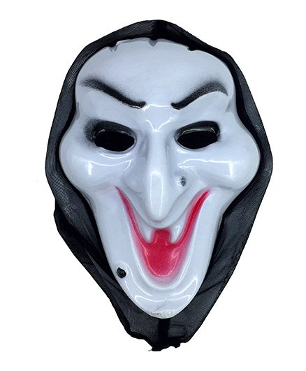 Funcart Horror Face Mask With Tongue - White