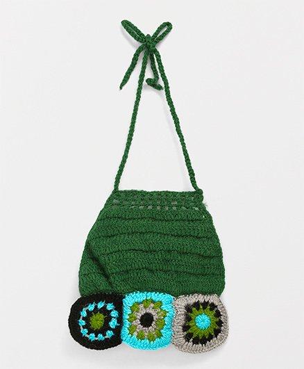 Mayra Knits Cute Design Bib - Green