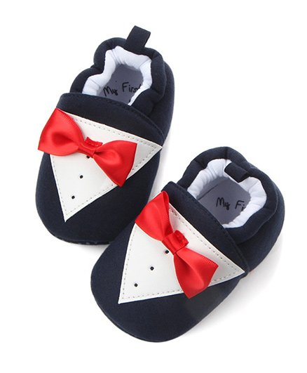 Wow Kiddos Bow Knot Booties - Black