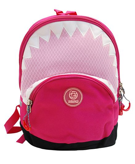 Abracadabra Backpack Triangle Border Design Pink - 11 Inches