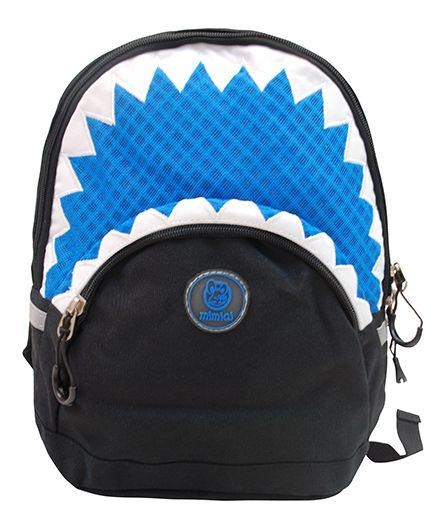 Abracadabra Backpack Triangle Border Design Blue - 11 Inches