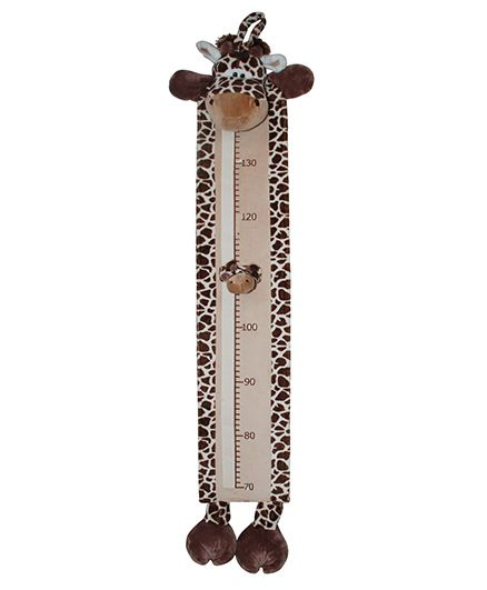 Abracadabra Plush Growth Chart Giraffe Theme - Dark Brown