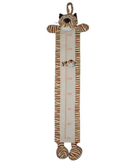 Abracadabra Plush Growth Chart Tiger Theme - Brown