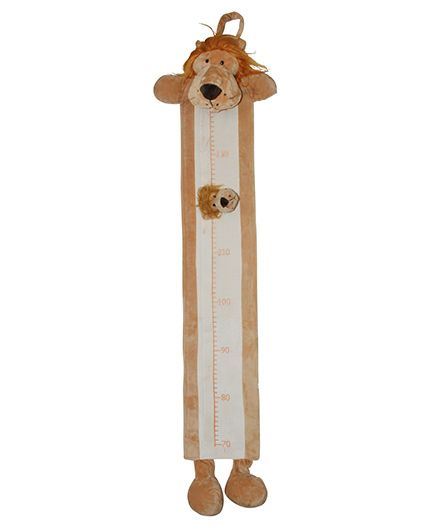 Abracadabra Plush Growth Chart Lion Theme - Light Brown