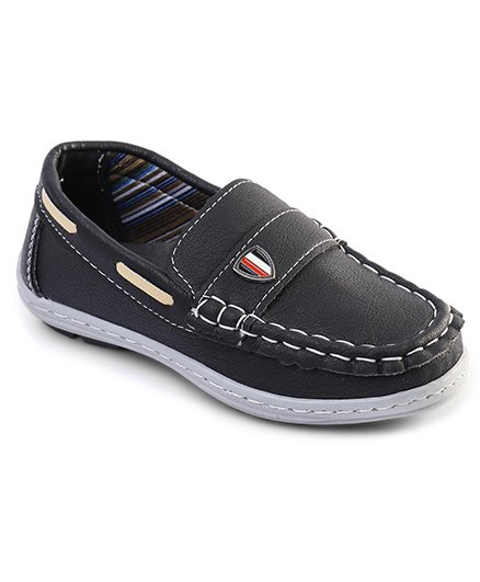 Cute Walk by Babyhug Party Wear Loafer Shoes - Black