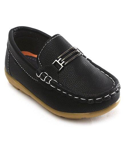 Cute Walk by Babyhug Loafer Shoes - Black