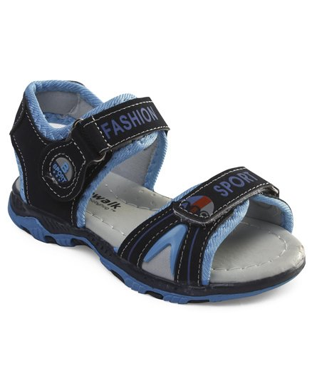 Cute Walk by Babyhug Sandals With Dual Velcro Closure - Dark & Light Blue
