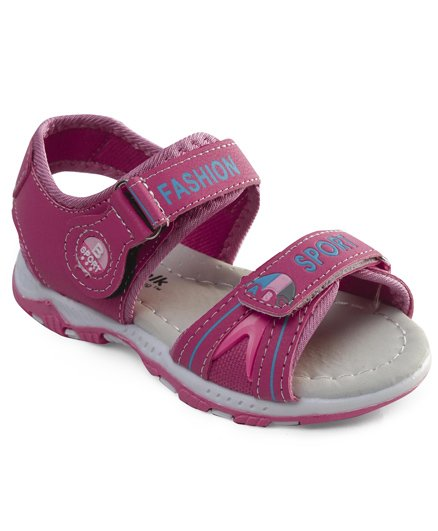 Cute Walk by Babyhug Sandals With Dual Velcro Closure - Pink