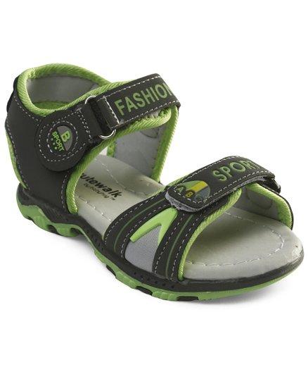 Cute Walk by Babyhug Sandals With Dual Velcro Closure - Grey Green