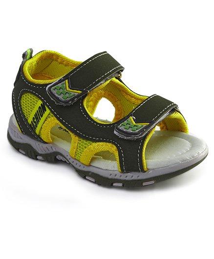 Cute Walk by Babyhug Sandals With Velcro Closure - Grey Yellow
