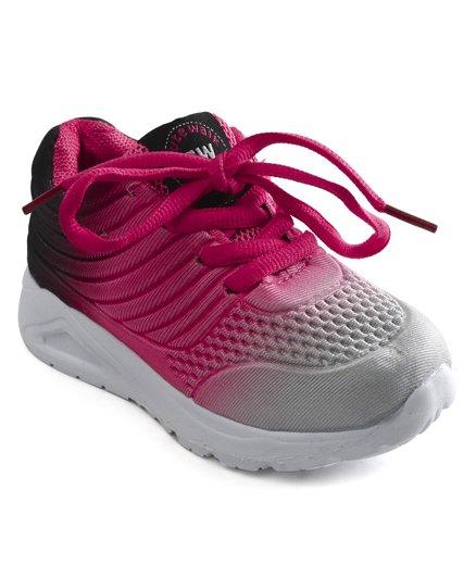 Cute Walk by Babyhug Sports Shoes - Pink Grey
