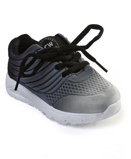 Cute Walk by Babyhug Sports Shoes - Grey Black