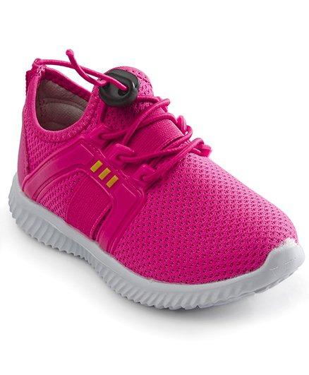 Cute Walk by Babyhug Sports Shoes - Dark Pink