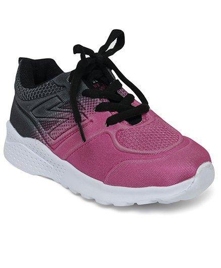 Cute Walk by Babyhug Sports Shoes - Pink Black