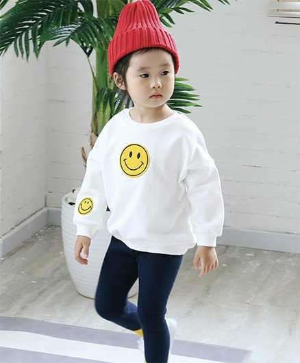 Awabox Smiley Patch Sweatshirt - White