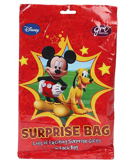 Disney Surprise Bag Mickey Mouse Print - Red