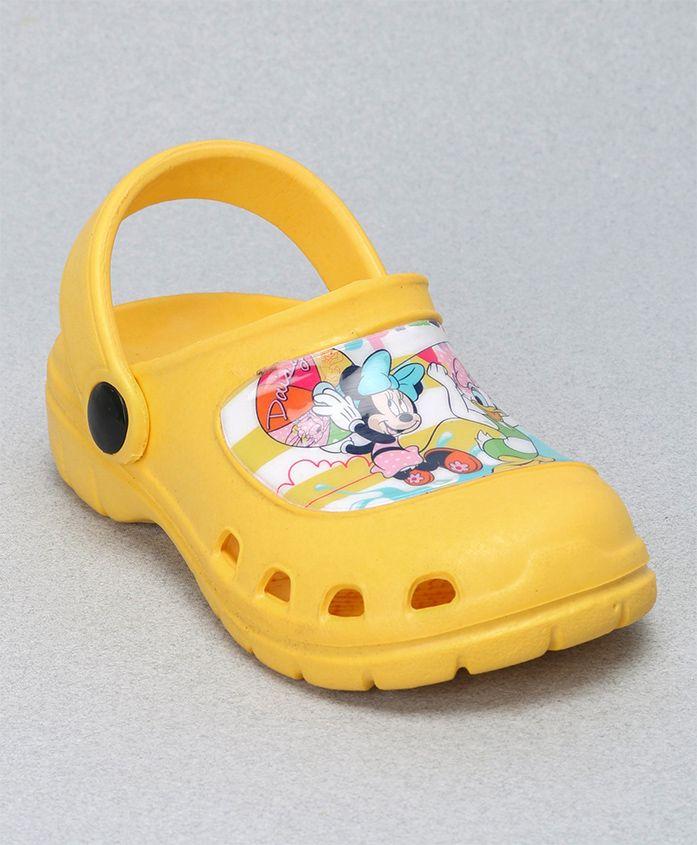 Cute Walk by Babyhug Clogs Minnie Mouse & Daisy Duck Design - Yellow