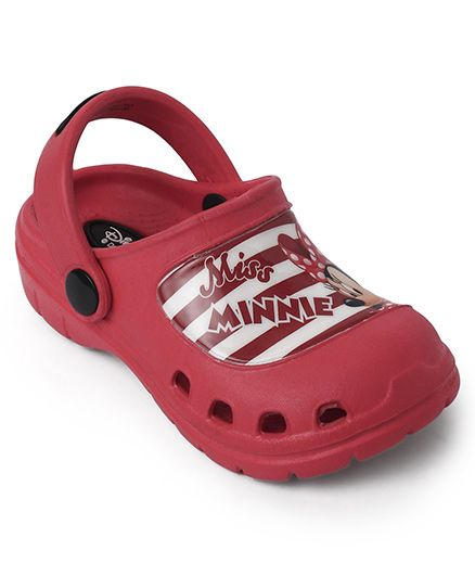 Cutewalk By Babyhug Clogs Minnie Mouse - Maroon