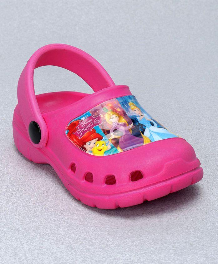 Cute Walk by Babyhug Clogs Disney Princess Design - Pink