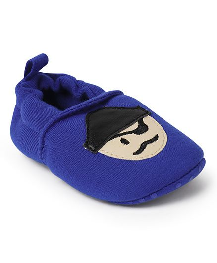 Cute Walk by Babyhug Booties - Royal Blue