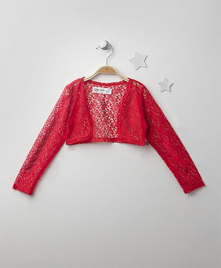 Soul Fairy Classic Lace Shrug - Coral