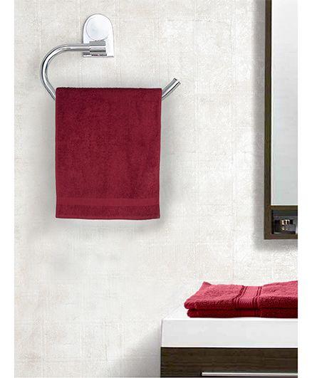 EuroSpa Premium Cotton Bath Towel - Maroon