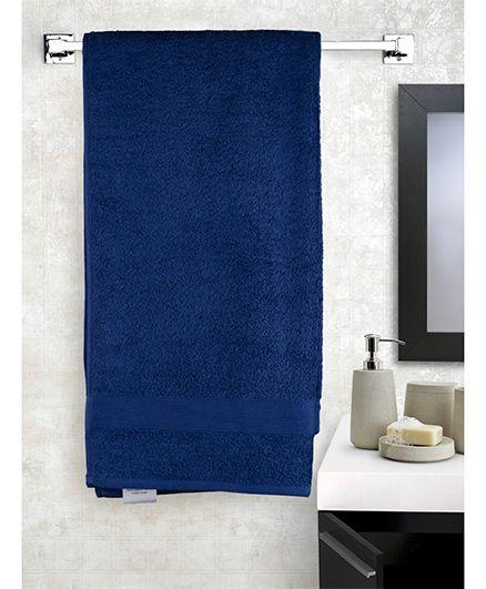 EuroSpa Premium Cotton Baby Bath Towel - Navy Blue