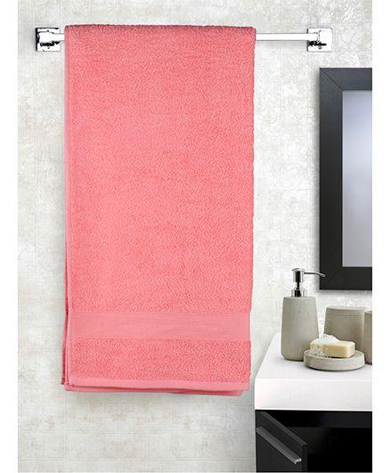EuroSpa Premium Cotton Baby Bath Towel - Pink