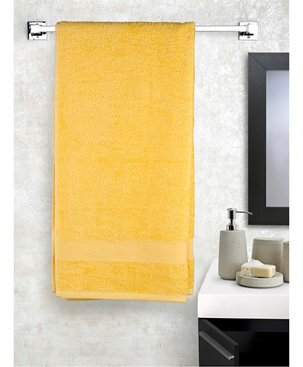 EuroSpa Premium Cotton Baby Bath Towel - Yellow